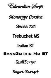 Lettertypes spiegel met tekst