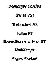 Spiegel graveren lettertypes