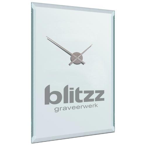 Verrassend Ronde spiegel klok met logo graveren | Spiegelgraveren.nl JR-18